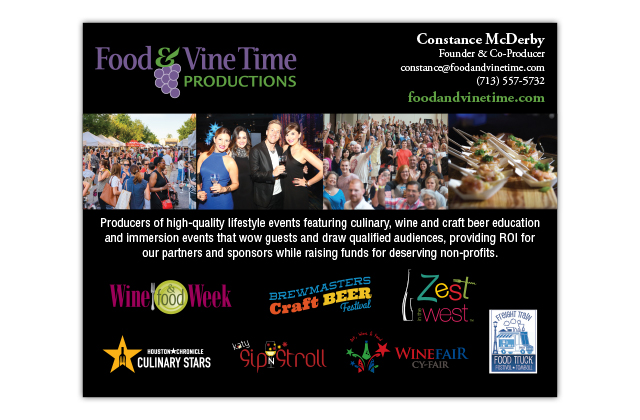food and vine time productions advertisement