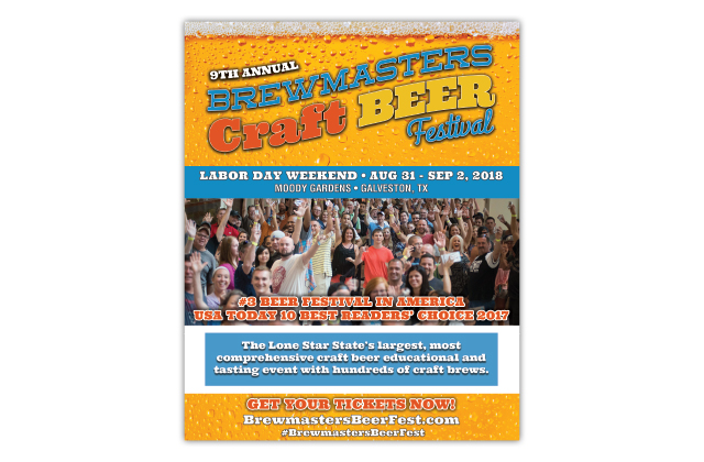 brewmasters craft beer festival advertisement