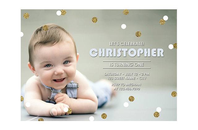 first birthday invitation design